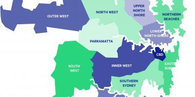 Sydney-map - Karten Sydney (Australien)